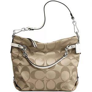 Coach signature brooke hobo bag purse